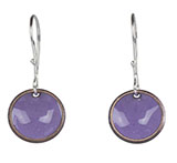 Light Purple Enamel Bowl Earrings