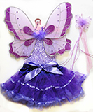 Purple Fairy Wings Dress Up Costume for Kids