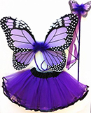 Purple Monarch Butterfly Dress Up Costume for Kids