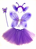 Purple Butterfly Heart Kids Costume Set