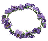 Purple Flower Halo Headdress for Kids
