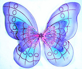 Purple Butterfly Wings for Kids - Layered