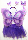 Sparkle Purple Butterfly Fairy Wing Set for Kids