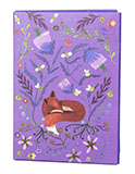Purple Fox Greeting Card Holder Wallet