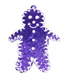 "7.5"" Decorative Purple Gingerbread Man"
