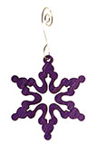 Curved Points Purple Snowflake Ornament