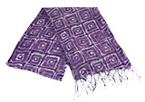 Handmade Purple Fun Squares Silk Scarf