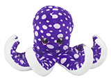 Plush Dotted Purple Octopus