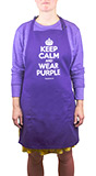"""Keep Calm and Wear Purple"" Apron"