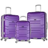 3-Piece Hardshell Ridges Purple Luggage Set