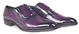Grained Style Mens Purple Oxford Dress Shoe