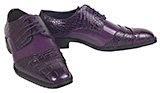 Fusion Croc Print Mens Purple Oxford Dress Shoe
