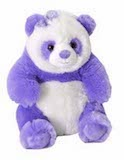 Posh Purple Panda with Bow
