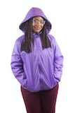 Light Purple Windbreaker with Polar Fleece Lining