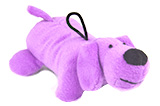 Little Squeaky Purple Plush Dog Toy 6""