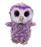 Small Plush Purple Fuzzy Owl