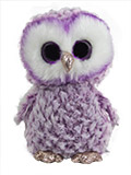 Large Plush Purple Fuzzy Owl