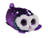 Sparkly Sequin Mini Plush Purple Owl