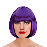 Bobbed Purple Wig