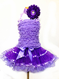 4 Pc Purple Ruffle Dress Set for Kids