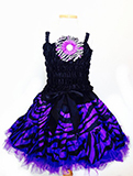3 Piece Purple Zebra Costume Ruffle Dress Set for Kids