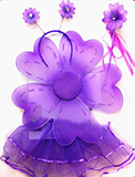 Flower Purple Tutu Set for Kids