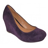 Purple Sueded Wedge Pumps