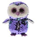 Mid-Size Flippable Sequins Purple Owl