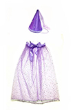 Purple Princess Costume for Kids - Purple Cape and Hat