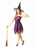 Spider Purple Witch Costume