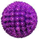 10 LED Lit Pinkish Purple Sphere
