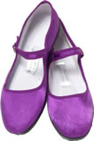 Chinese Silk Shoes- Purple Maryjanes