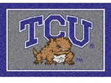 "56""x92"" Texas Christian Horned Frogs Door Mat"