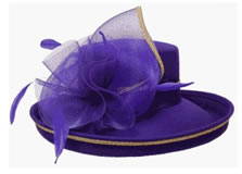 Classic Purple Up-Brim Hat with Gold Trim