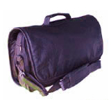 Purple Leather Briefcase