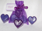 Purple Mini Hearts Soap