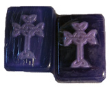 Purple Celtic Cross Soap