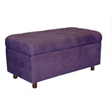 Tufted Purple Bench U0026 Storage Chest