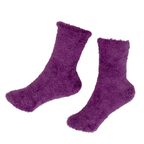 fuzzy light purple socks - Purple Christmas Stocking