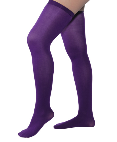 131c2a44e86a8 Opaque Purple Thigh Highs
