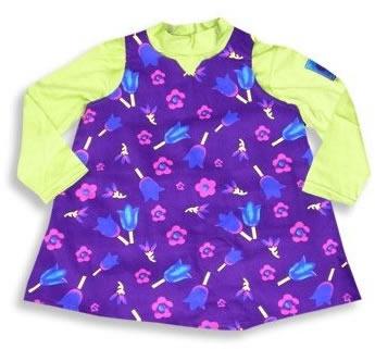 9e21eb2e53ac Purple Jumper Dress with Lime Green Shirt - Dress Set for Toddler Girls