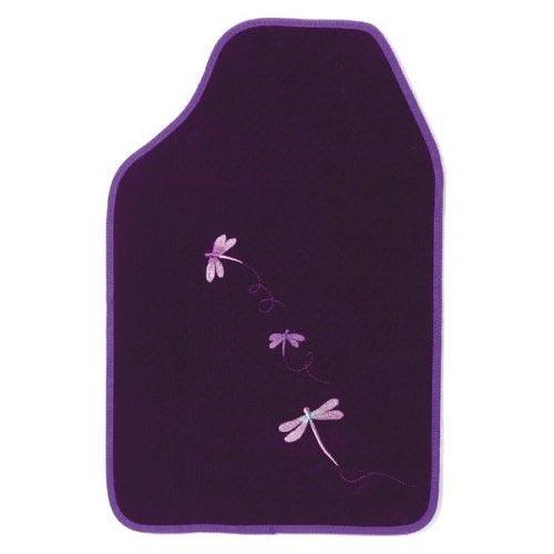 Purple Car Floor Mats With Dragonflies