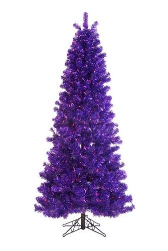 - 7 Foot, Pre-Lit Purple Christmas Tree