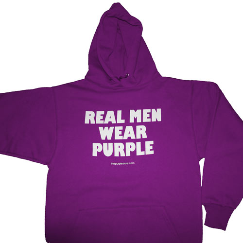 Hooded Real Men Wear Purple Sweatshirt