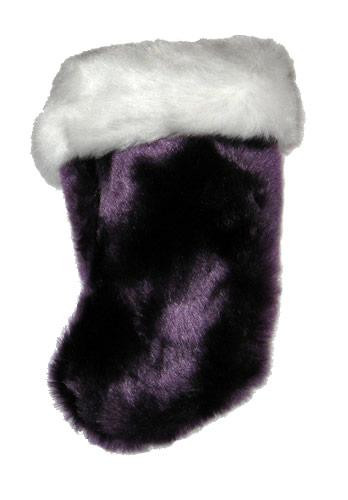 miniature plush purple christmas stocking - Purple Christmas Stocking
