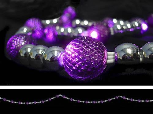 pre lit led bead garland purple christmas lights decorating lights