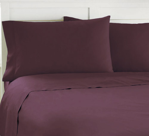 Luxurious Purple Bed Sheets - Dark Plum (only Full Size at the moment)