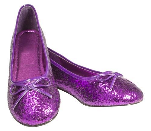 8b143bb56f40 Purple Sparkle Shoes (purple flats)