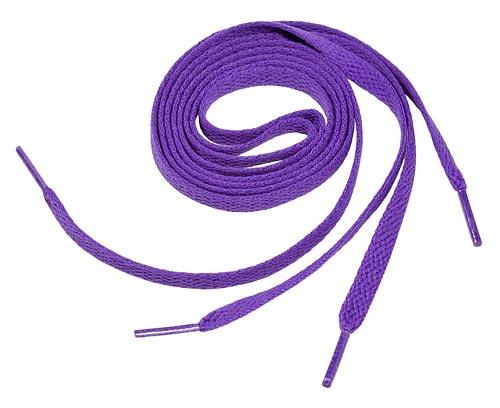 Purple Flat Shoe Laces
