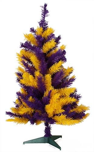 3 Foot LSU Christmas Tree (Louisiana State University)